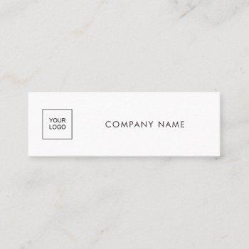 upload your logo company modern simple template mini business card