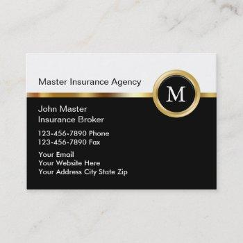 upscale insurance business cards