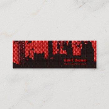 upside downtown led horizontal skinny mini business card