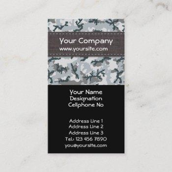 urban camouflage business card