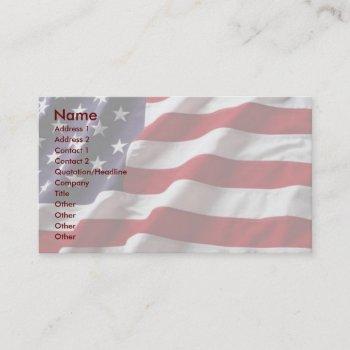 usa flag profile card