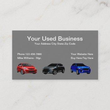 used car dealer simple automotive business card