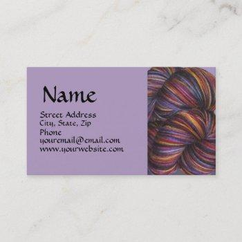 varigated yarn business card