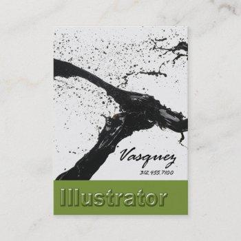 vasquez - bold illustrator artist painter avocado business card