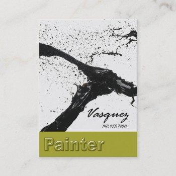 vasquez - bold painter artist illustrator (celery) business card