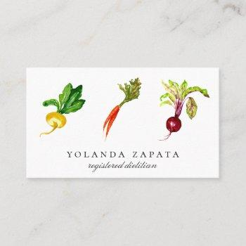 vegetable trio business cards