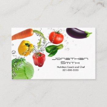 vegetable water splashes business card