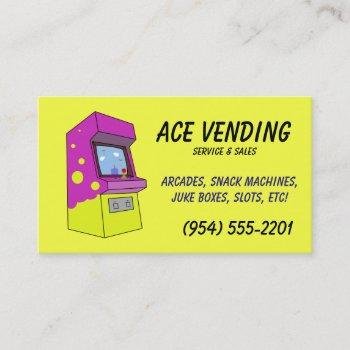 vending machine service business cards