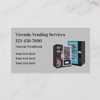 vending machines themed business card template