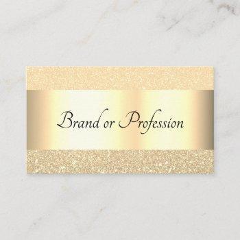 very elegant gold effect design professional business card