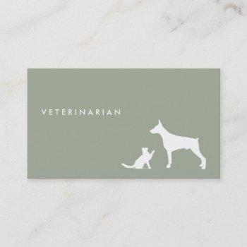veterinarian cat and dog ı business card