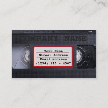 vhs business card