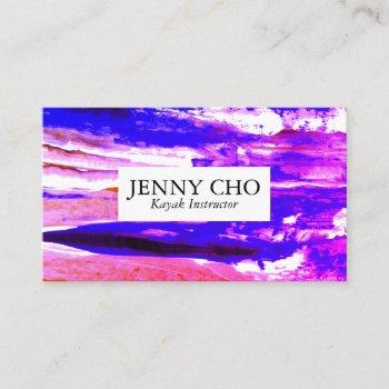vibrant pink purple colorful paint stripe business card