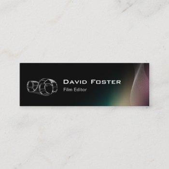 video film editor cutter director mini business card
