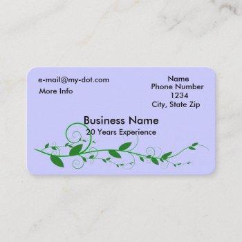 vine rounded corner business card