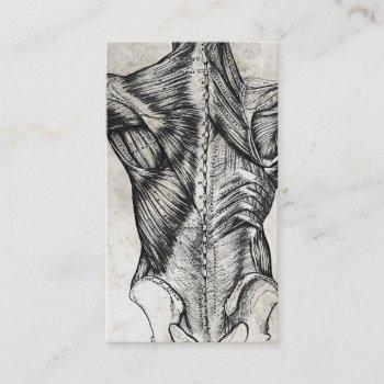 vintage anatomy back business cards