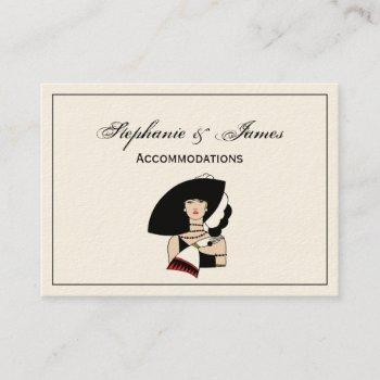 vintage art deco woman wearing hat gloves color business card
