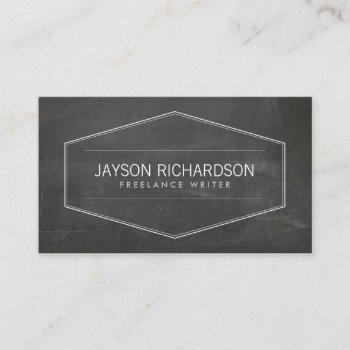 vintage badge on chalkboard business card