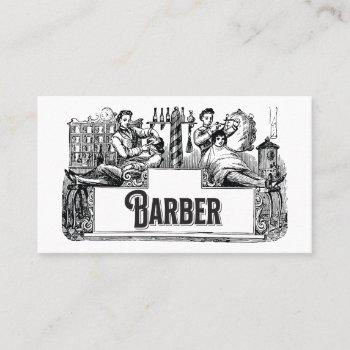 vintage barber / hair stylist business card