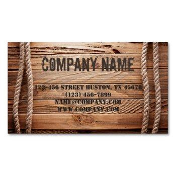vintage barn wood cowboy western country magnetic business card