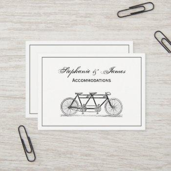 vintage bicycle built for two / tandem bike business card