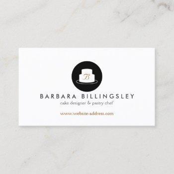 vintage cake emblem logo bakery i business card