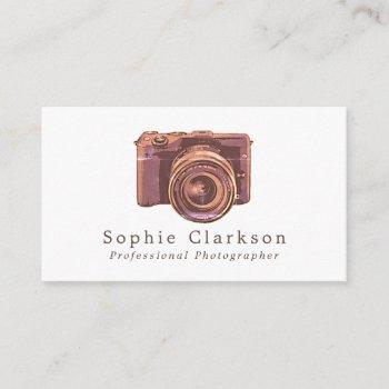 vintage camera, photographer, photography business card