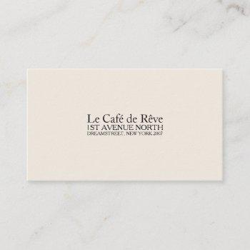 vintage contemporary type business card