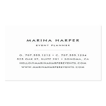 Small Vintage Floral Square Business Cards | Lilac Back View