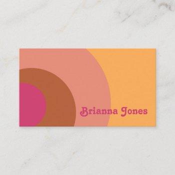 vintage inspired business card