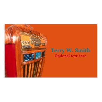 Small Vintage Jukebox Business Card Front View
