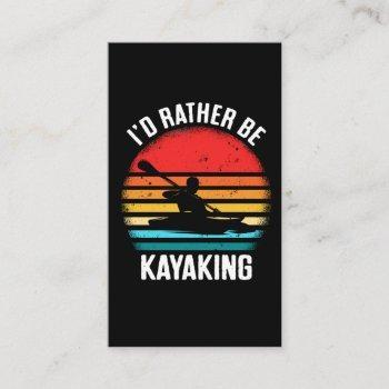 vintage kayaking sunset paddling water sports business card