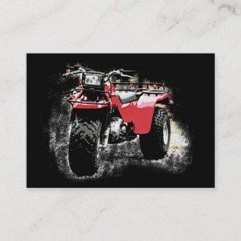 vintage motorsports 3 wheeler atc on black business card