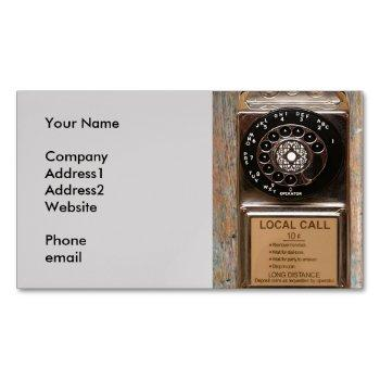 vintage phone dial telephone rotary antique magnetic business card
