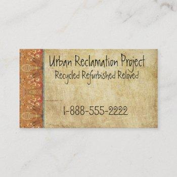 vintage recycled asian retro business card