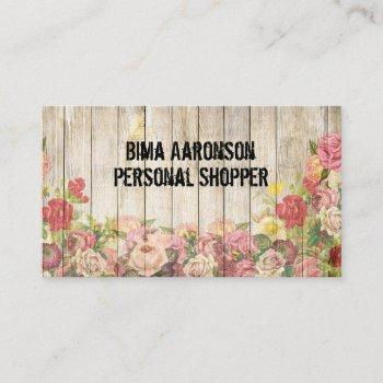 vintage rustic country fence business cards