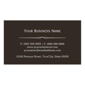 Small Vintage Rustic Tools Carpenter Handyman Woodworker Business Card Back View