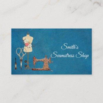 vintage seamstress business card