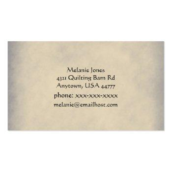 Small Vintage Sewing Machine Business Card Back View