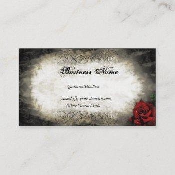 vintage style rose business card