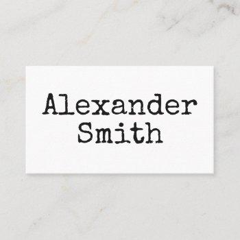 vintage style typewriter indie author business card