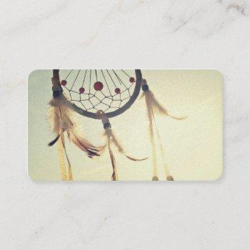 vintage tribal hipster dream catcher ornament business card