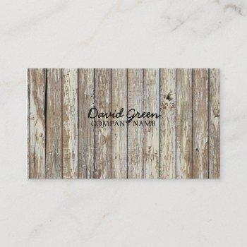 vintage woodgrain handyman construction business card