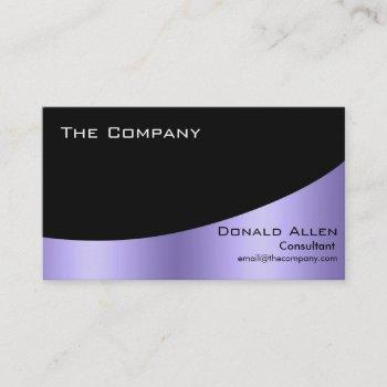 violet steel metal professional black elegant business card