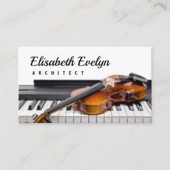 violin on the keys digital piano business card