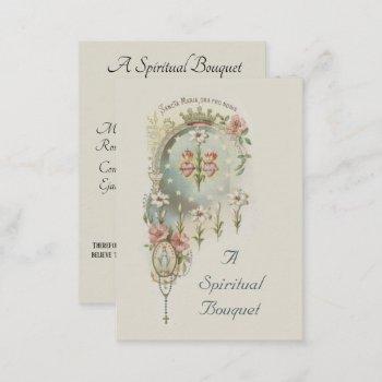 virgin mary spiritual bouquet prayer holy card