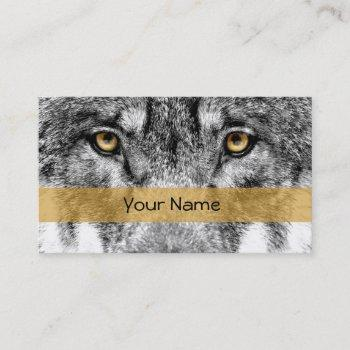 visiting card wolf