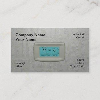 wall thermostat on cool business card