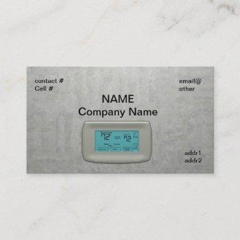 wall thermostat on heat business card
