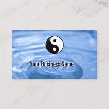 water drop yin yang business card